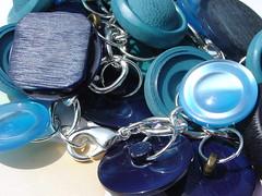 Button Cha-Cha Bracelet Blue