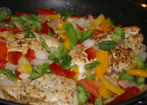 add onion and peppers