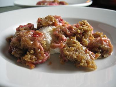 Rosemary Rhubarb Crisp