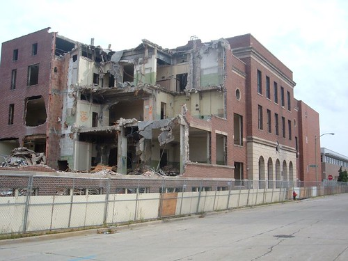 Bradley Vocational Technical High School demolition