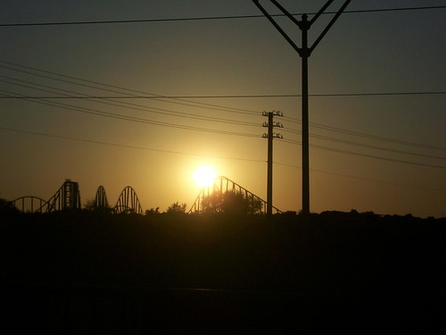 Coaster sunset