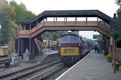 After the crowds have gone. (Renown) Tags: diesel trains cc railwaystation western railways svr severnvalleyrailway bewdley diesellocomotive dieselhydraulic d1062 westernclass bristolsiddleymaybach