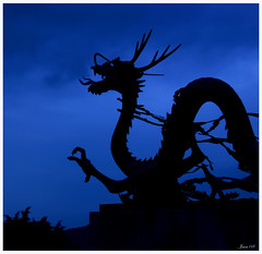 Dragon! (clickbeetle) Tags: blue color statue dragon dusk korea busan tamron breathtaking flickrslegend justpentax tamronspaf24135mmf3556adasphericalif