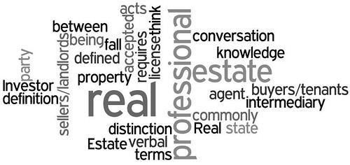 real estate professional word art