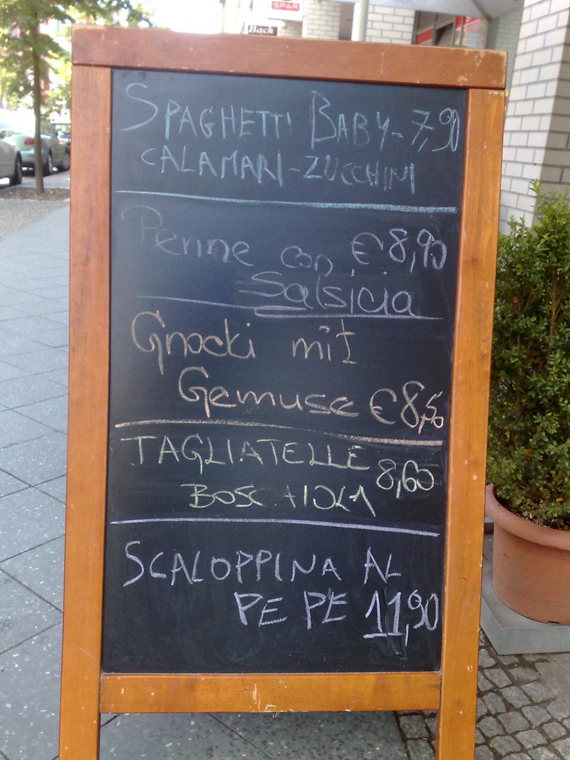 Rechtschreibung Gnocchi