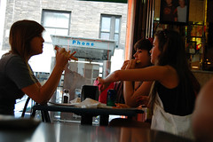 oh my gawd, didn't you get my text? my dad took us to St. Bart's! (Esther17) Tags: girls teenagers ohmygawd whateverrr nyc08 stbartsisapparentlytheplacetobe