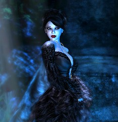 In the Mist (Jen Carroll (LunaRose Graves)) Tags: blue moon mist fog night dark vampire avatar gothic goth luna graves haunted sl moonlit secondlife virtual dreams moonlight fangs silvermedal vampires vamp relic windlight metaverse virtualworlds slvampires templumexobscurum secondlifevampires flickeritesofsecondlife lunarose lunarosegraves