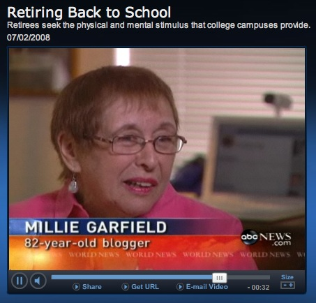 Milllie Garfield - 82 Year Old Blogger