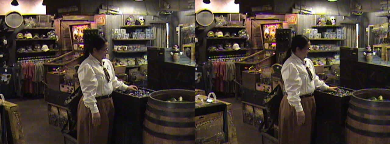 dsc06674, 2008:06:08 23:51, 3Dh, California, Anaheim, Disneyland®, Adventureland, Indiana Jones™ Adventure Outpost, color Slow Shutter, Hyper 3D