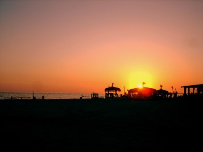 fregene miracle beach sunset