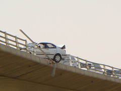 accident (SaudiSoul) Tags: bridge fall car accident