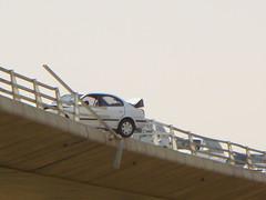 accident (SaudiSoul) Tags: bridge fall car accident سيارة سياره حادث جسر كوبري