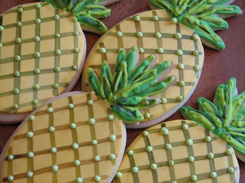 Painted Pineapple Cookies