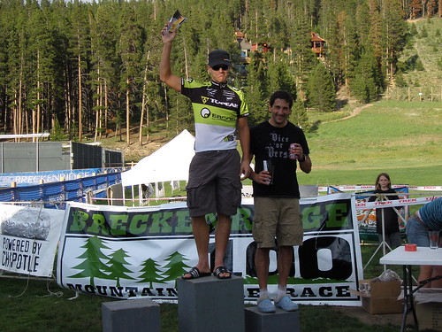 Podium minus the 2nd place rider