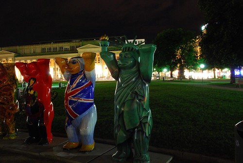 Buddy Bears at Night