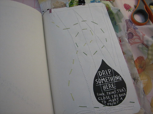 back of stitched page