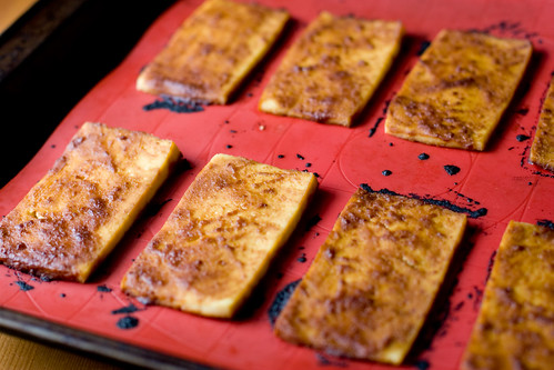 Smokey Miso Tofu - After Baking
