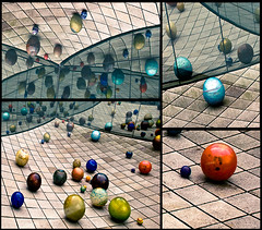 worlds of glass (dotintime) Tags: glass reflections bright balls round orbs spheres rolling tacomaartmuseum colorfu 7daysofshooting psychedelicsaturday week1glass