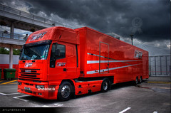 Ducati Truck (arturii!) Tags: barcelona red sky cloud clouds truck wow photo amazing interesting europa europe view superb awesome bikes cel catalonia motorbike moto vista vermell catalunya motogp mundial capture ducati circuit hdr artur catalua barcelone gettyimages paddock treatment nuvol nuvols montmel catalogne vallsoriental photomatix cami impresive golddragon canoneos400d circuitcatalunya gpcatalunya overtheexcellence arturii goldenvisions