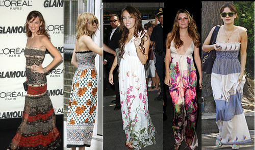 Long Hippe Dresses Celebrity