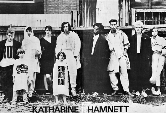 Katherine Hamnett – the queen of Sloganshirts