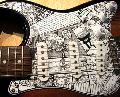 Ithiel - DeviantART guitar art paint
