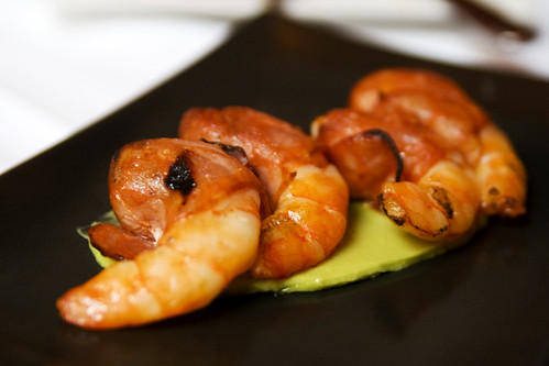 Grilled Chorizo Wrapped Gulf Shrimp