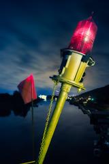 Industrial Bouquet (LukeOlsen) Tags: nightphotography red night oregon river portland industrial nocturnal flag bouquet willametteriver nocturne willamette sauvieisland redflag strobist 580exii lukeolsen pdxstrobist