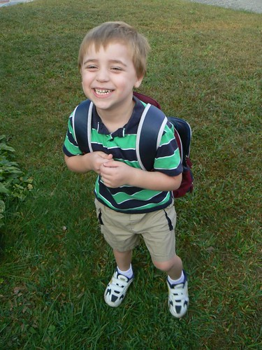 It is my 1st day of kindergarten!