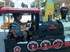 Train at the mall