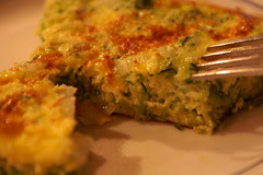 what i made for dinner :: zucchini frittata
