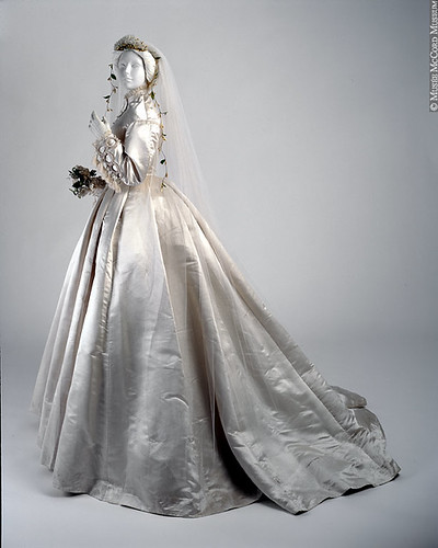 A Victorian wedding dress circa 1866 from McCord Museum