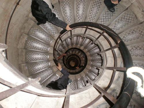 The Arc de Triomphe staircase