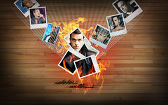 Robbie Williams (gorigo) Tags: wood hot fire nice williams background burning polaroids lalala robbie gorigo goripanda
