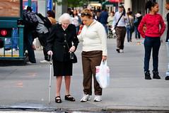 newyorkcity woman newyork cane manhattan broadway hood oldwoman peeps