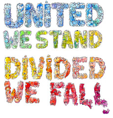 United we stand (mathiole) Tags: fall watercolor stand united together collab monsters divided