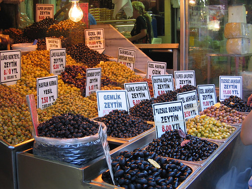 Olives at the Spice Bazaar