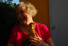 Mom with Chicken
