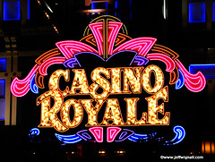 Casino Royale, Las Vegas, Nevada (Jeff Wignall) Tags: longexposure sign glitter night neon lasvegas casino wignall