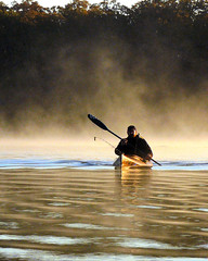 Kayak Fishing at Okmulgee Lake (FreeWine) Tags: morning mist lake oklahoma misty sunrise scott outdoors golden boat fishing fisherman kayak explore kayaker pungo supershot kayakfishing okmulgeelake wildernesssystems anawesomeshot takeitoutside