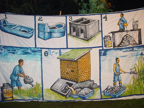 Uganda: poster about UDD toilets