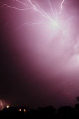 The only decent photo I got (michael.mcc) Tags: sky storm clouds purple australia brisbane bolt queensland electricity thunderstorm lightning thunder