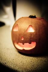 Happy Halloween (Marios Tziortzis) Tags: uk light house london halloween face scary university candle flat surrey carve mate mates 1337 unis pumkin