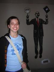 Obama Graffiti (Miss History) Tags: chicago lauren night election president crowd huge grantpark 2008 obama