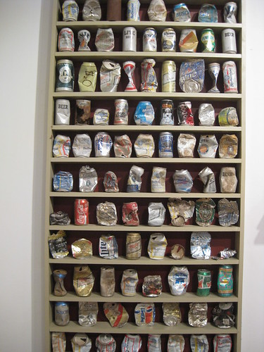 Brandon Joyce, photo of PaintCo's beer can collection