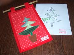Patch-Pinheirinho elegante (Leka Muleka) Tags: tree natal handmade felt bolinhas feltro patchwork arvore molde pinheiro pan