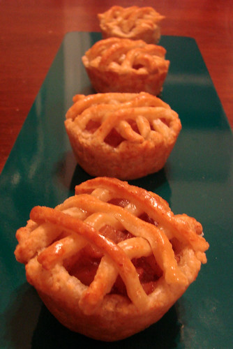 Row of Cup Pies