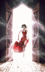 Vurdalak (ignaciolivares) Tags: red comics rojo dress moda satin vampiros vestido fashio noliprovoste ignacioolivares