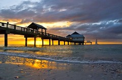 Sunsets @ Pier60 (riclane) Tags: sunset sun beach water florida clearwaterbeach pier60