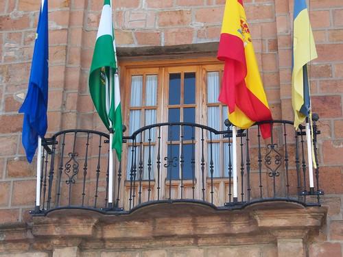 El balcon de un ayuntamiento